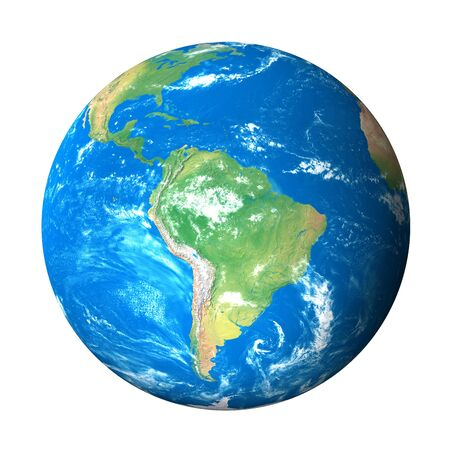 south space: Earth Model from Space: South America View