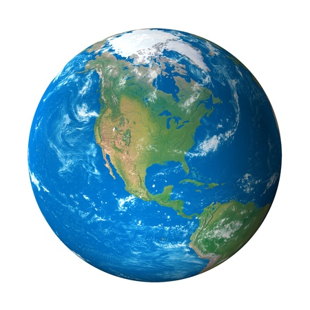 Earth Model from Space: North America View