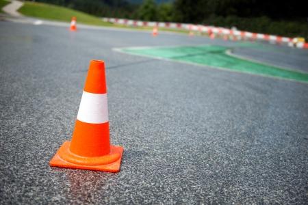 Traffic cone, racetrack