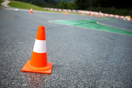 traffic cone: Traffic cone, racetrack