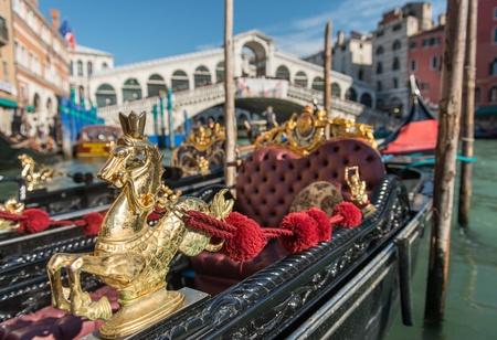 Gondolas at Rialto Bridge, Venice