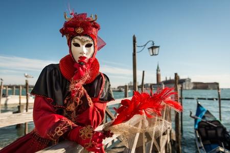 Carnival Mask Velencében Stock fotó