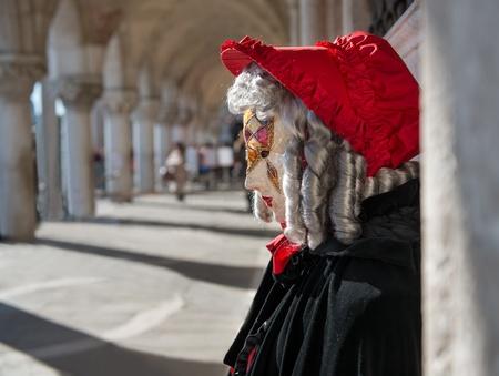 vestidos de epoca: Máscara del carnaval de Venecia