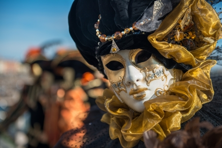 Golden Venetian Carnival Mask photo