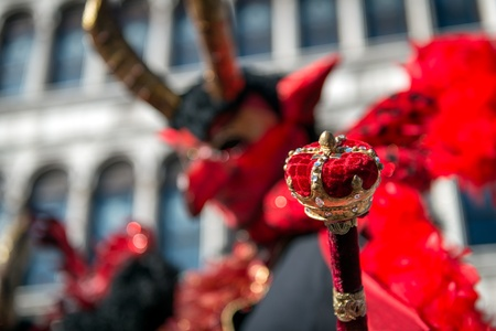 scettro: Diavolo con lo scettro - Maschera di Carnevale