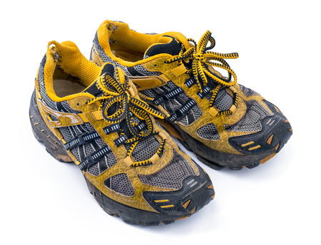 old shoes: Good old Running Shoes Stock Photo