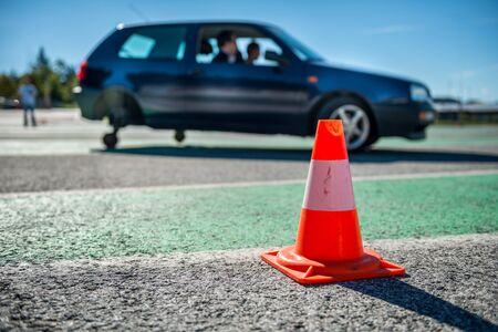 car safety: Car education training school Stock Photo
