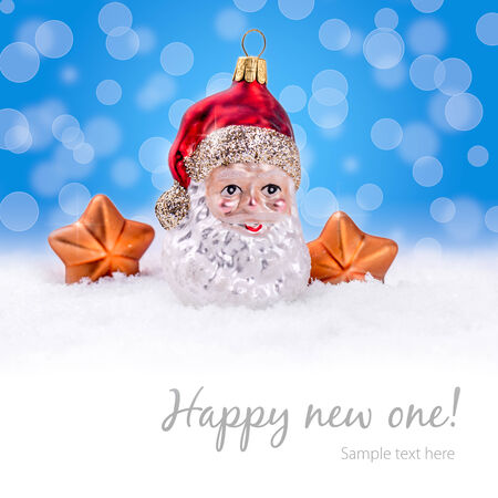 Christmas Background - Santa Claus  Santa Claus decorations - snowflake Christmas decoration, wintery feel  Lots of copy space for text  Stock fotó