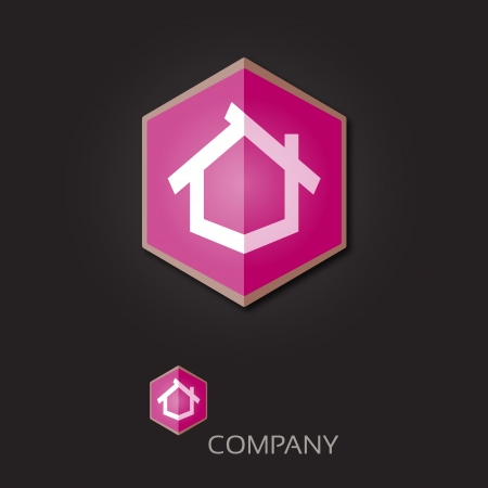 business it: Company logo template - Real Estate  Luxury concept  Also it means growing business and success  Vector  Editable  Illustration