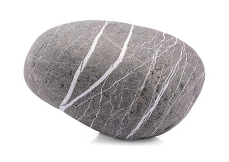 Stone, közelkép szürke szikla elszigetelt fehér
