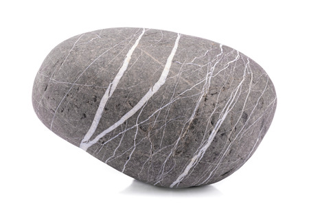 Stone, Close-up of a grey rock isolated on white