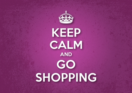 Keep Calm and Go Shopping Иллюстрация