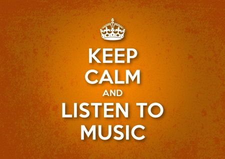 Keep Calm and Listen to Music Illustration