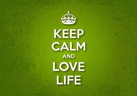 Gardez le calme et aimez la vie Vecteurs