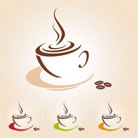 Vector sketch of coffee cup, icon Illustration