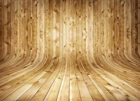 Szutykos régi hajlított fa beltéri Stock fotó