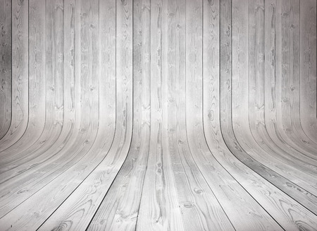 Old curved wooden background Stock Photo