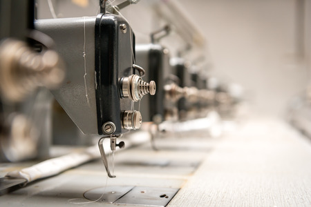 textile industry: Abandoned textile factory - sewing machines