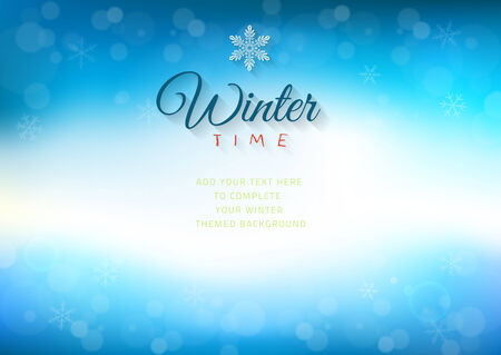 flair: Winter time background with text - illustration. Illustration