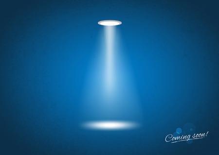 soon: Binnenkort Spotlight sign - Illustratie