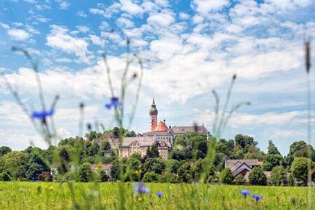 benedictine: Abad�a benedictina de Andechs - Panorama Foto de archivo