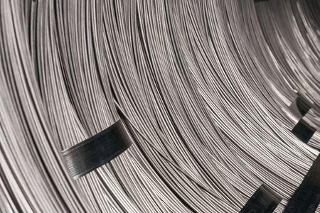 steel wire: Steel Wire rod, Steel Coils Stock Photo