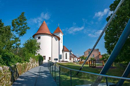 Panorama of Pungart, Kranj, Slovenia, Europe.