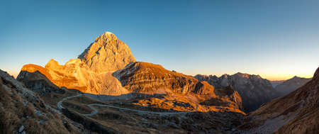 Mount Mangart, Slovenia - panoramic sunset view