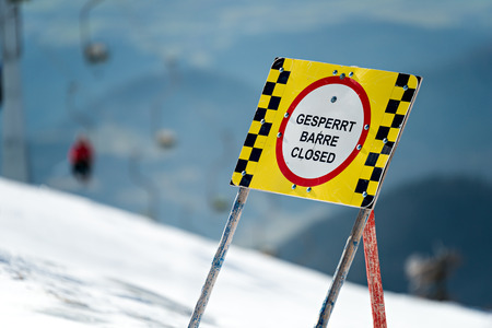 Ski Area: Closed Ski Area Stock Photo