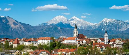 Kranj, Slovenia - Panorama view Stock Photo