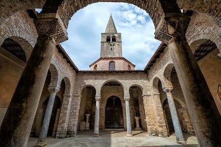 Atrium of Euphrasian basilica, Porec, Istria, Croatia