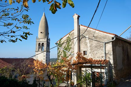 slovenian: Traditional village on slovenian Karst, Stanjel, Slovenia, Europe Stock Photo