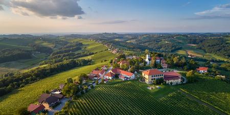 Kog panorama - village in the hills northeast of Ormož in northeastern Slovenia