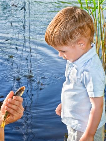baby 4 5 years: fishing