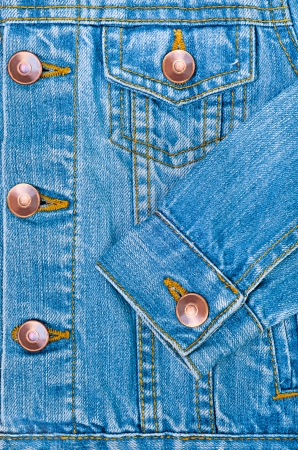 denim jacket: Blue denim jacket