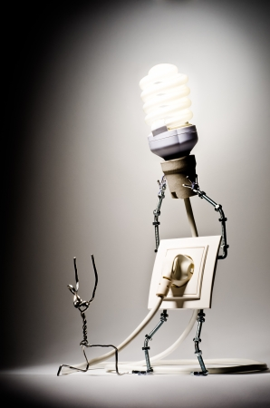 The concept of the goods of electricity photo