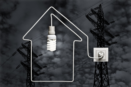 save electricity: The concept of electricity supply houses