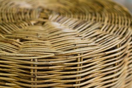 Detail of spiral pattern of rattan furniture
