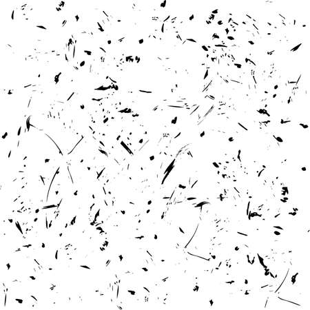 Simless pattern. Fine grain and scratches abstract black and white grunge background.