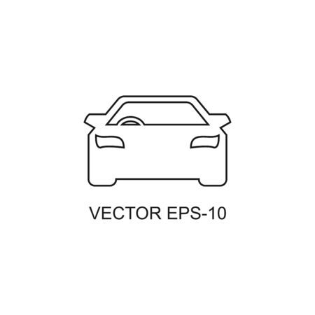 thin line icons for black car front,vector illustrations