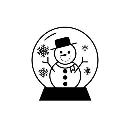 snowman snowglobe icon,vector illustrations