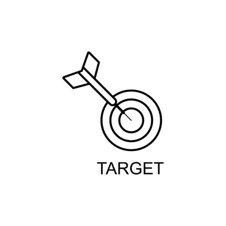 thin line icons for business target,vector illustrations Illustration