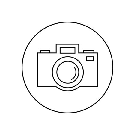 thin line icons for Camera,vector illustrations
