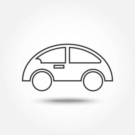 thin line icons for car,transportation,vector illustrations