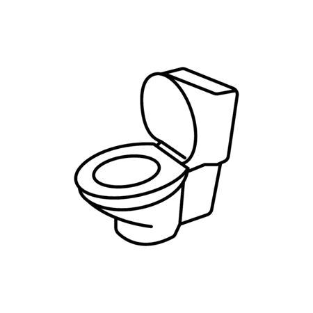 Toilet thin line icon,vector illustrations