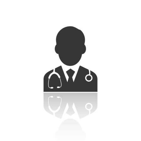 solid icons for Doctor,vector illustrations