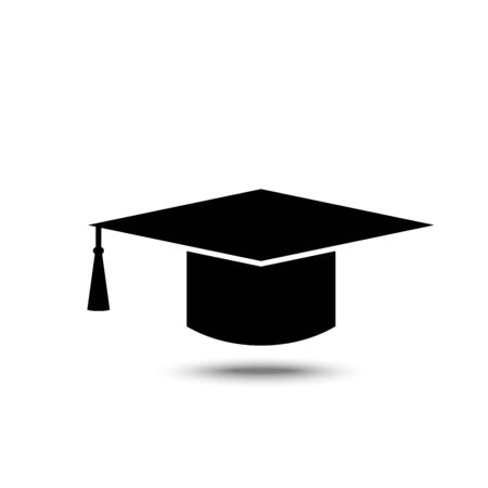 Solid icons for Graduation cap,Education,vector illustrations