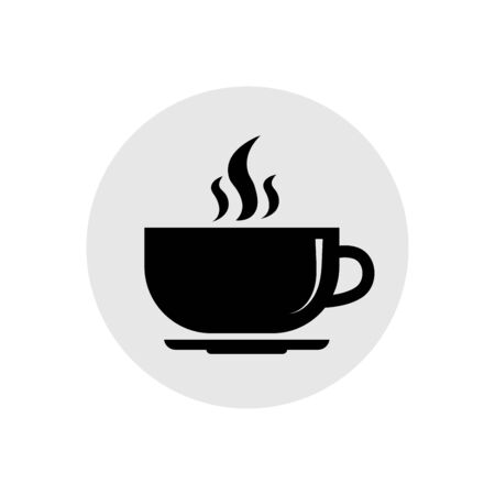 solid icons for Hot coffee rounded cup,vector illustrations
