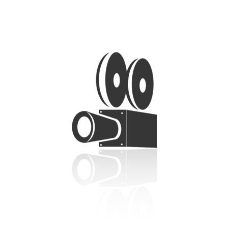solid icons for Video Camera and shadow,vector illustrations