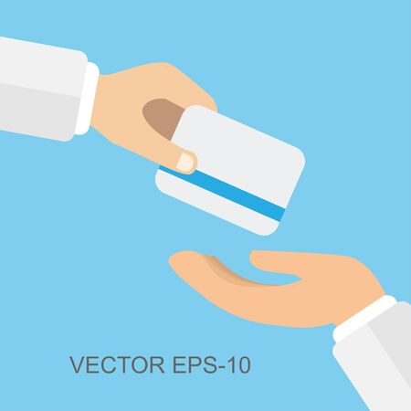 flat icons for payment,credit card,hands,vector illustrations